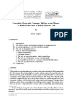 D. Miasik, Controlled Chaos with Consumer Welfare as the Winner – a Study of the Goals of Polish Antitrust Law