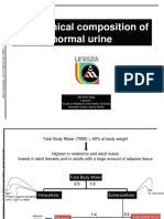 Biochemical Composition of Normal Urine