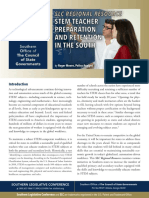 STEM Teacher Preparation and Retention in the South