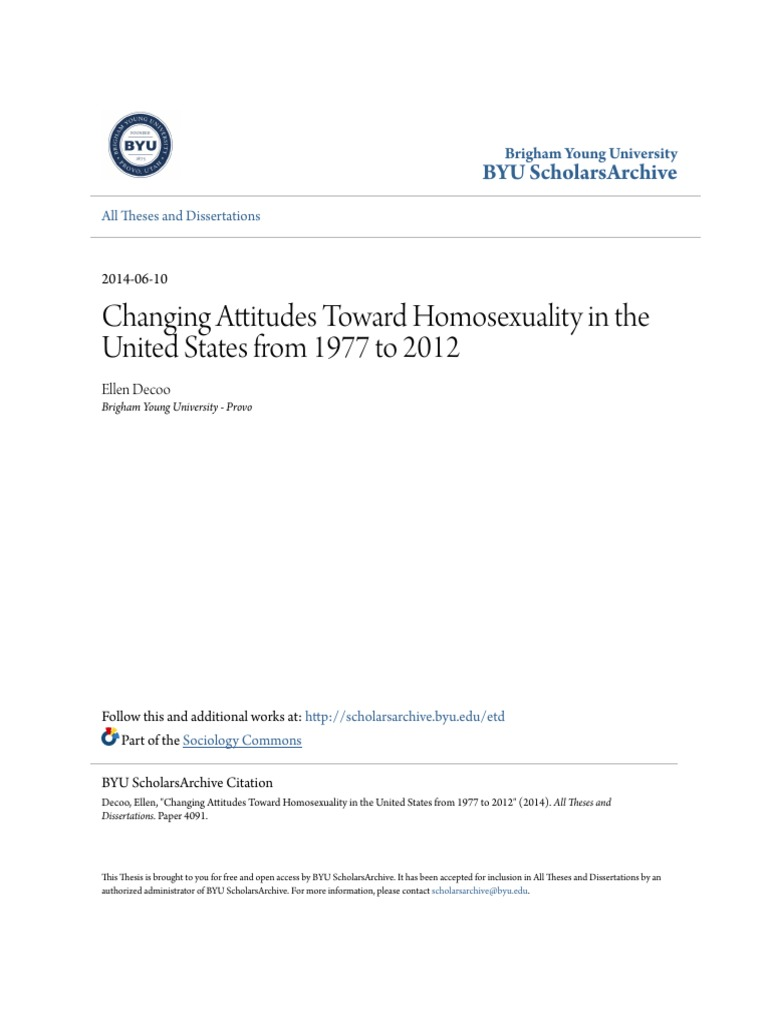 Changing attitudes towards homosexuality