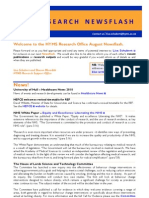 HYMS Research Newsflash -August 2010