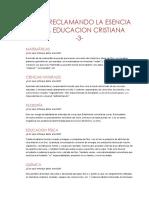 Tarea Reclamando La Esencia de La Educacion Cristiana-3