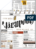 Viewpoint Brewing Co. Menu