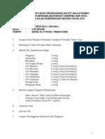 Agenda Mesyuarat Majlis Jamuan Hari Raya Aidilfitri