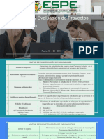 Indicadores Diseño y Evaluación de Proyectos