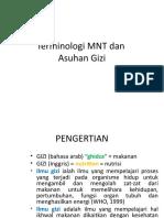 Terminologi MNT Dan Asuhan Gizi