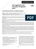 ACL and Knee Injury Prevention Programs
