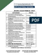 CRONOGRAMA ELECTORAL REAJUSTADO