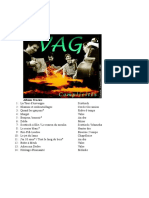 VAG Discografia Track Lists