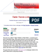 Table Tennis Links