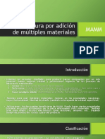 Manufactura por adición de múltiples materiales