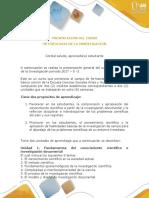 Presentacion Curso Metodologia de La Investigacion