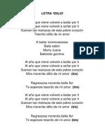 Letra Idilio (Morenada)