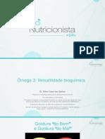 Omega 3 e Nutrição