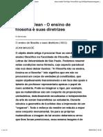 Maugüé, Jean - O ensino de filosofia e suas diretrizes