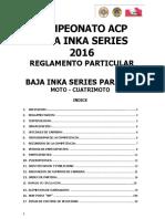 Reglamento Particular Acp Baja Inka 2016 Moto Cuatrimoto