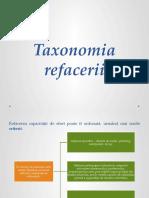 Curs v - Taxonomia Refacerii