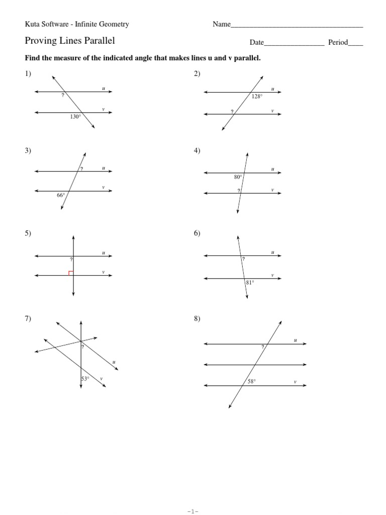 worksheet Parallel Intersecting And Perpendicular Lines Worksheets geometry parallel and perpendicular lines worksheet distance addition fact 1511535603v1 and