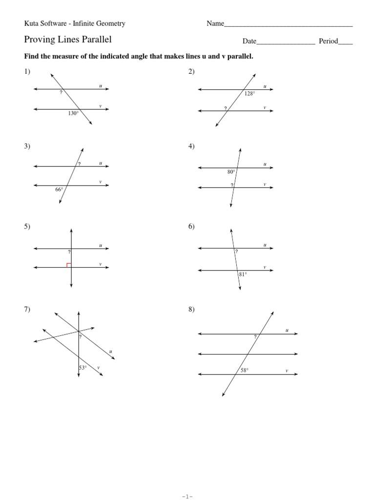 3Proving Lines Parallel Geometry – Proving Parallel Lines Worksheet