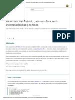 Hibernate_ Persistindo Datas No Java Sem Incompatibilidade de Tipos