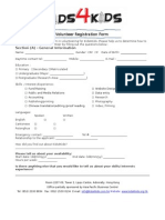 Kids4Kids - General Volunteer Form