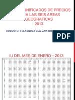 Semana 14 Indices Unificados de Precios Para Las Seis Areas Geograficas 2013