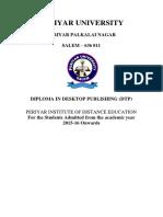 Diploma in Desktop Publishing