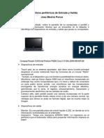 Dispositivos Periféricos de Entrada y Salida - Jose Mestra Ponce