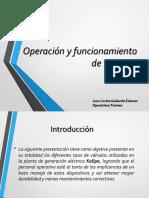 Operación y funcionamiento de válvulas