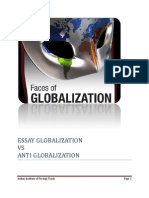 ESSAY GLOBALIZATION VS ANTI GLOBALIZATION