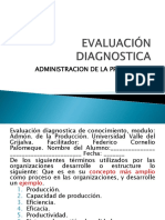 EVALUACIaN DIAGNOSTICA