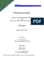 minnesota pfcs pou device study final report