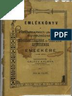 Füzesgyarmati-Unit Egyh Emlék Könyv 1905