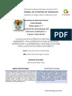 Ensayo Individual sobre la Evaluación Auténtica y sus implicaciones para la Educación Básica en México