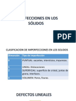 Imperfeccion de Los Solifos-Defectos Lineales