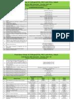 Academic Calender (ODD Sem 2017-18)