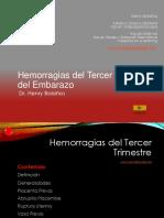 Hemorragia Del Tercer Trimestre Del Embarazo