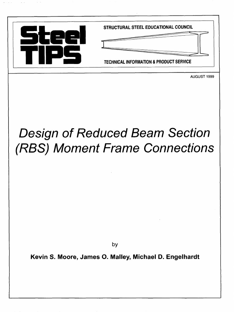 Design of Reduced Beam Section Moment Frame Connection | Beam ...