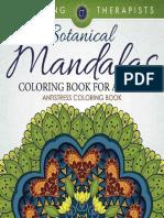 Botanical Mandalas Coloring Boo - Coloring Therapist