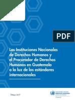 Instituciones nacionales de derechos humanos y el Procurador de derechos humanos en Guatemala