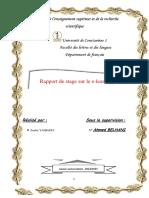 Rapport de Stage Final
