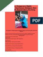 Contoh Teks Pengacara Majlis Penutupan Kejohanan Balapan Dan Padang SMK Demak Baru