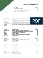 Plan Capacitacion 2012