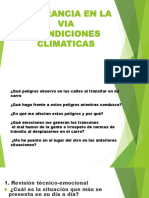 Tolerancia en La via- Condiciones Climaticas