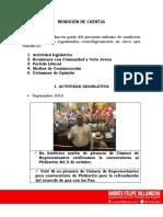 RENDICIÓN DE CUENTAS REPRESENTANTE ANDRÉS FELIPE VILLAMIZAR