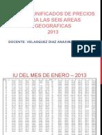 SEMANA-14-INDICES-UNIFICADOS-DE-PRECIOS-PARA-LAS-SEIS-AREAS-GEOGRAFICAS-2013.pptx
