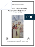 Caracter y Principios de Espiritualidad Dominicana - R. Garrigou-Lagrange
