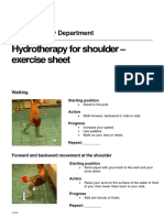 Hydrotherapy for Shoulder
