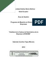 Analisis de Cadena de Suministros Lovisone