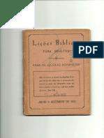 Lições Bíblicas - 1970 - 2° Semestre